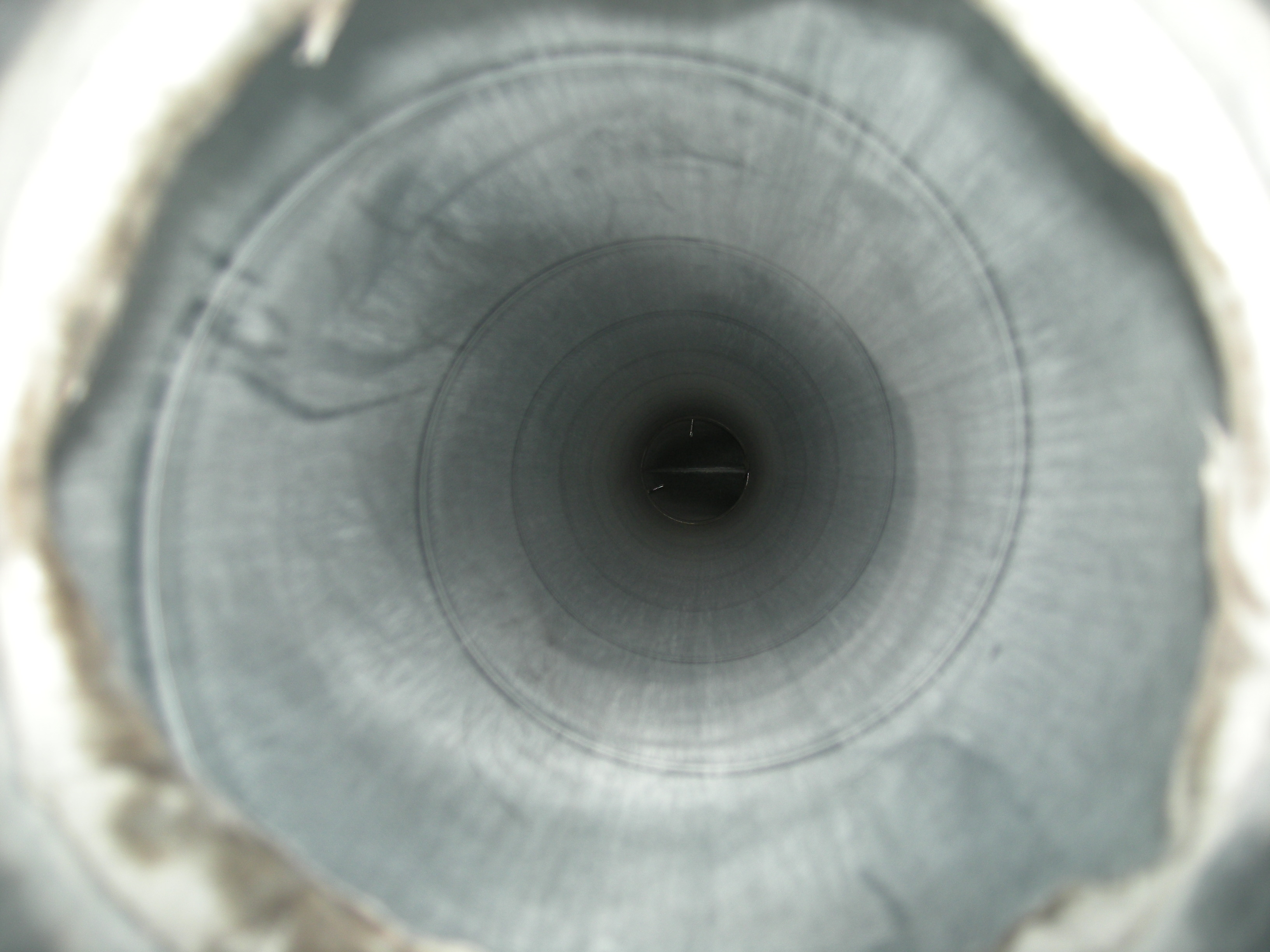 Lüftungsrohr Innen nach der Reinigung