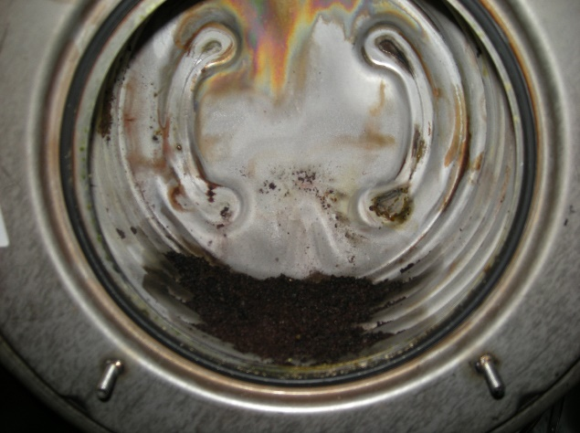 Gasheizung vor der Reinigung