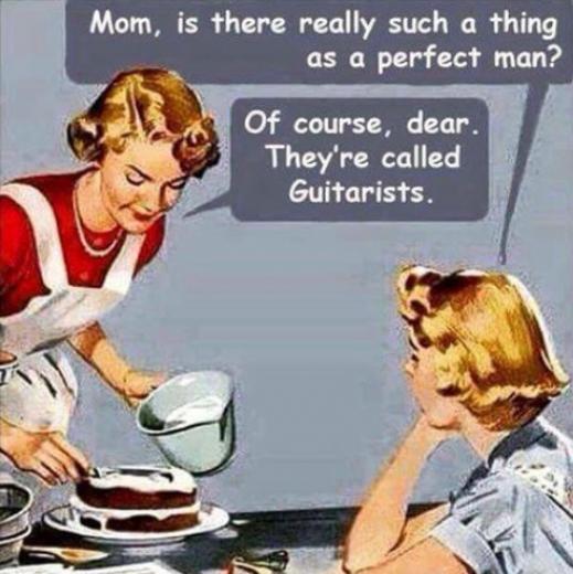 Ja, es gibt ihn doch, den perfekten Mann: Gitarrespieler