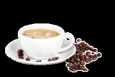 Kaffee Tasse mit Bohnen