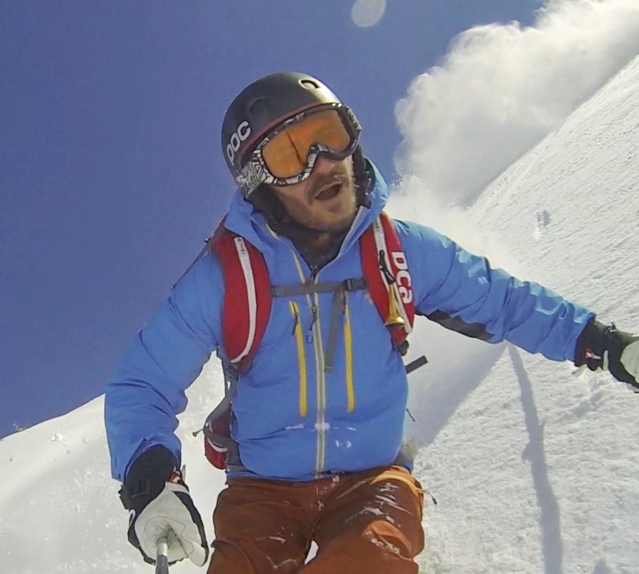 Christoph Specht in Aktion beim Skifahren