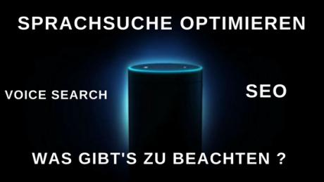 Sprachsuche und voice search per SEO optimieren