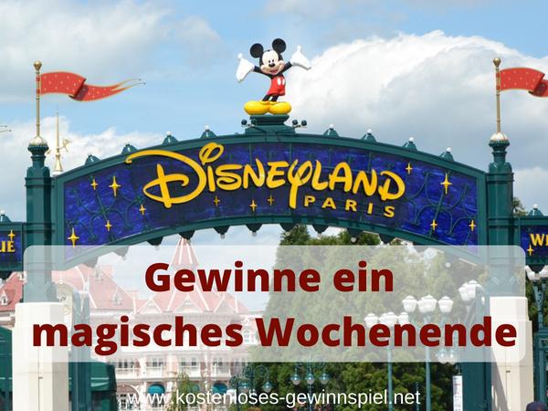 Disneyland Tickets Gewinnspiel