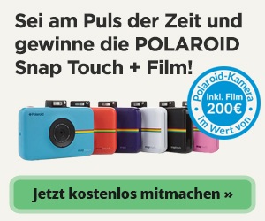 Polaroid Snap Touch Kamera gewinnen