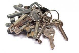 einige schlüssel an einem schlüsselbund