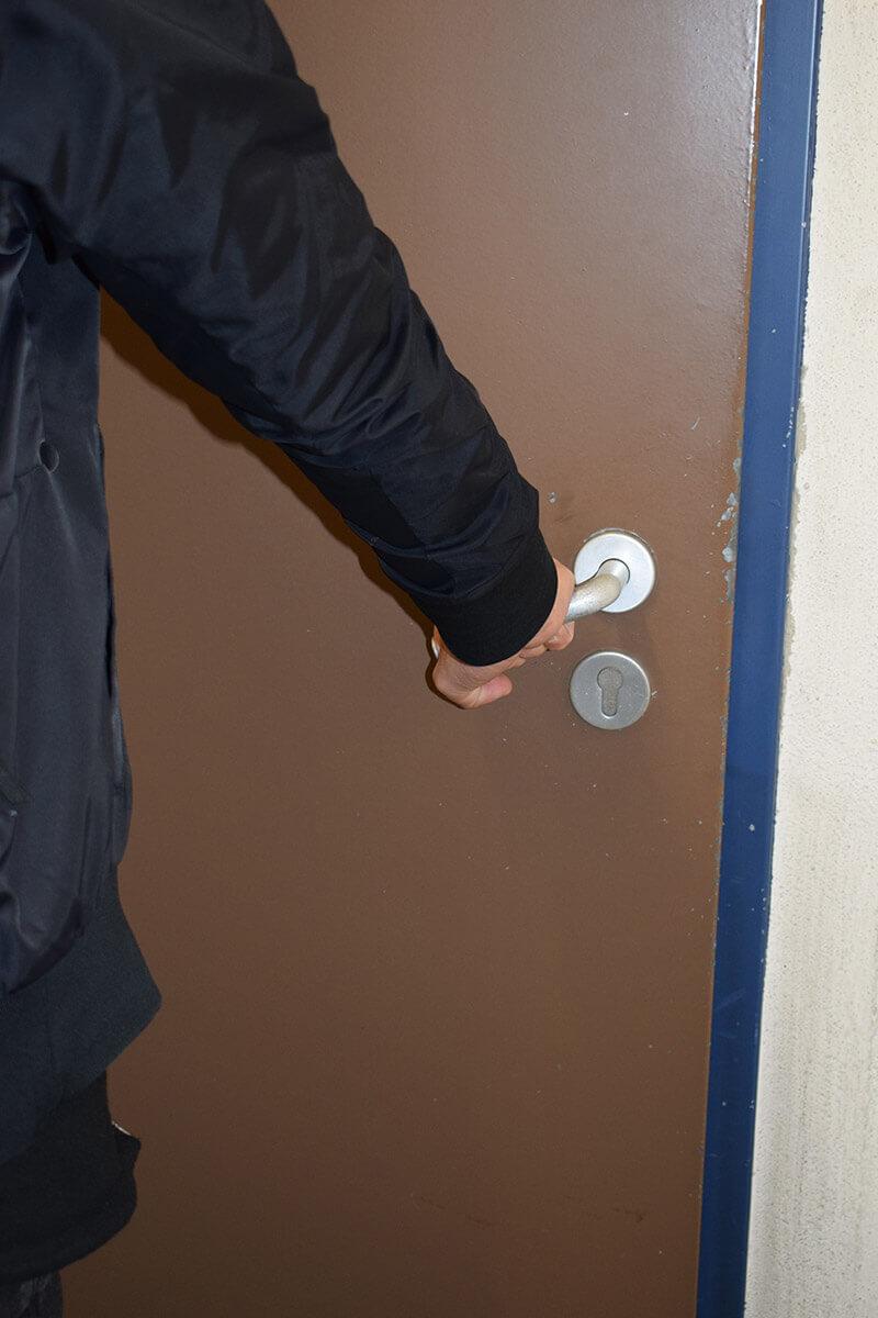 Haustüre mit Schlüsselloch