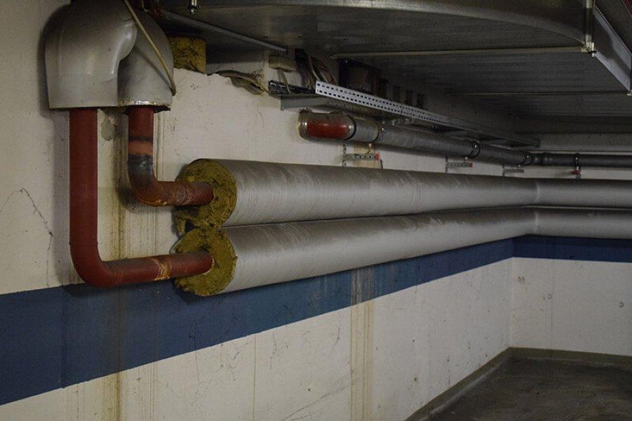Wasserschaden an Rohrleitung