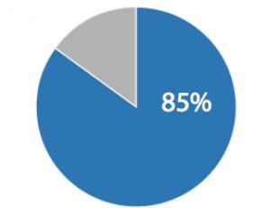 Bild über eine Statistik, die aufzeigt, dass 85% aller Internetnutzer sich vor dem Kauf im internet informieren