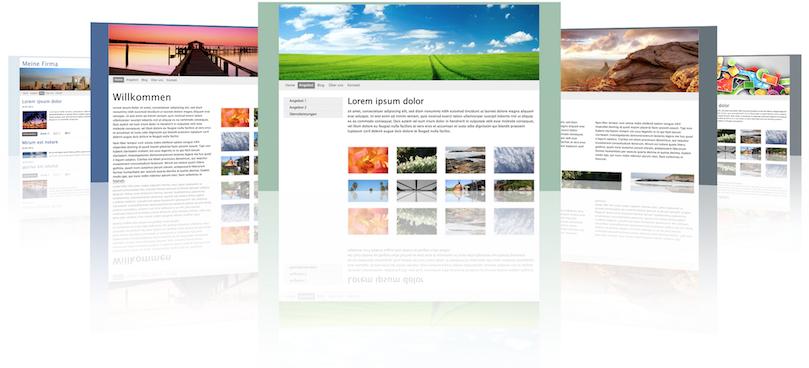 Bildschirmkopien von Website's die mit unserem CMS erstellt wurden