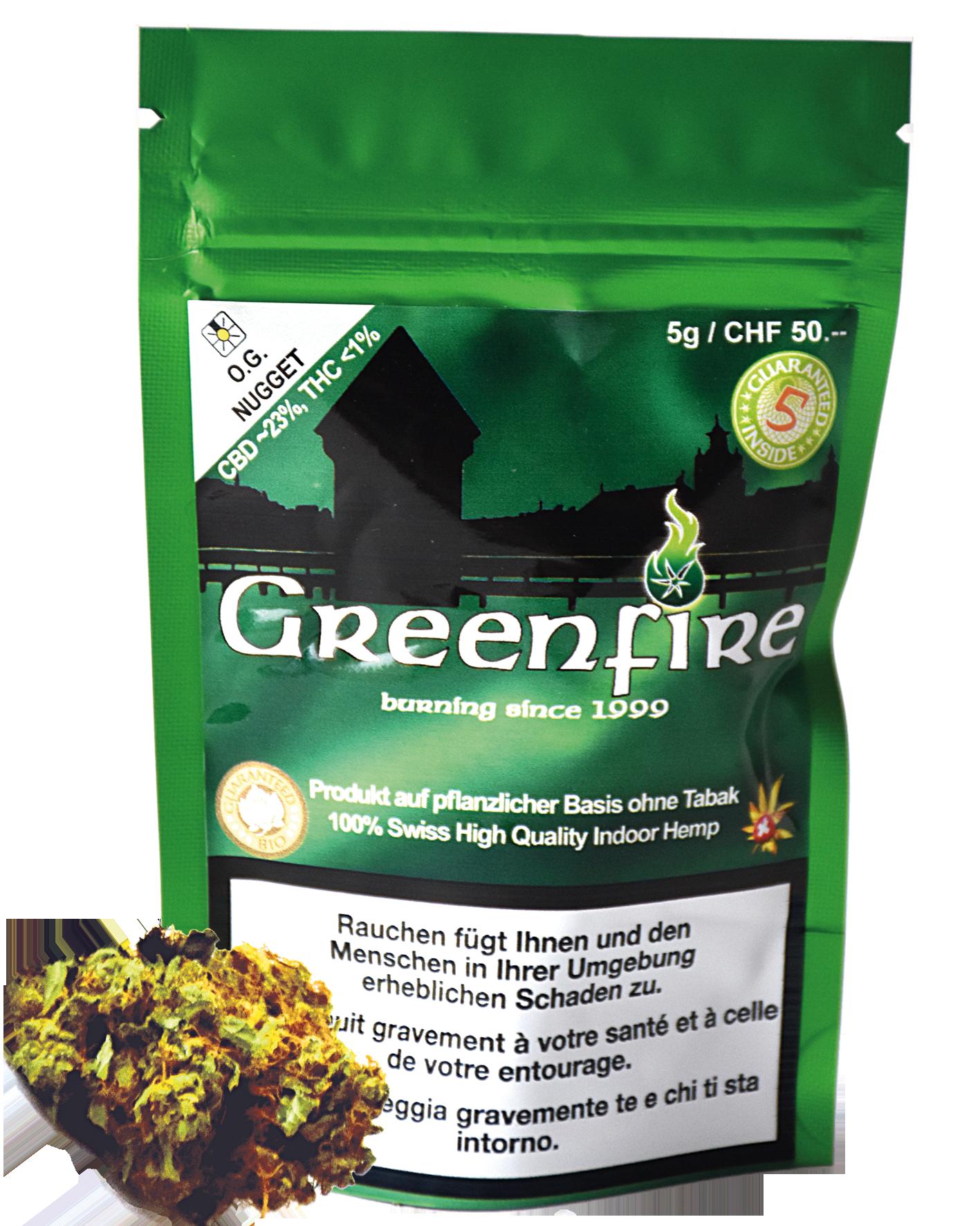 Greenfire: Sorte O.G. Nugget