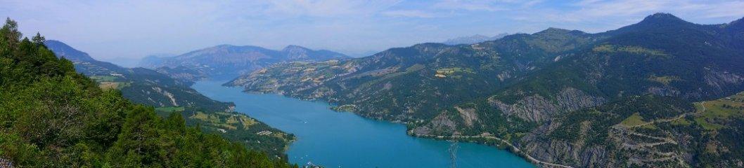 Aussicht auf den Lac de Serre Pochon
