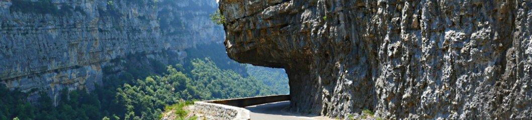 Felsvorsprung bei Villard de Lans - Südfrankreich