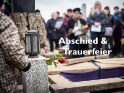 Bild und Link verschiedenen Möglichkeiten einer Trauerfeier