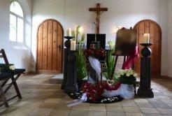 Bild von Blumen anlässlich einer Beerdigung