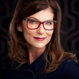 Kathy Sazama red glasses