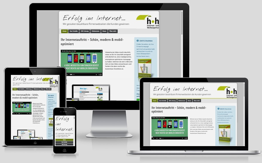 Internetagentur Heckmann Mannheim - responsive Design
