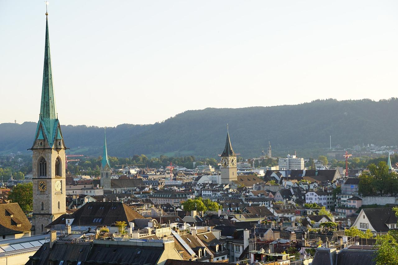 panorama von stadt zürich