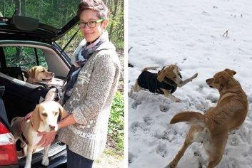 Jana Jäckle mit ihren Hunden