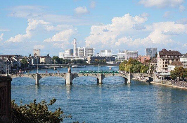 Stadt Basel Panorama Aufnahme