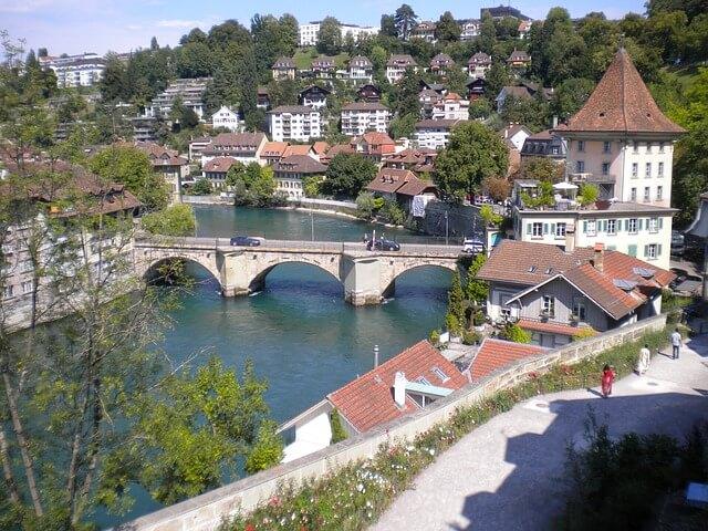 Stadt Bern Panorama Aufnahme