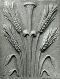 Modellierte Kopie klassizistischer Schmuckplatten für ein Architekturdenkmal, Terrakotta, Ähren
