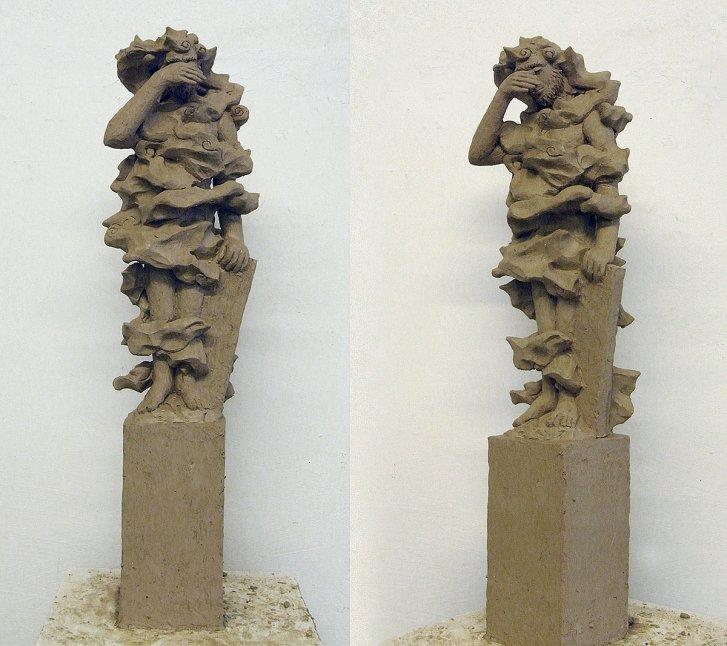 Terrakotta Modell für Skulptur mit dem Titel: