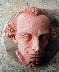 Portrait von Kant aus Terrakotta