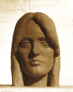 Portrait Kopf aus Terrakotta