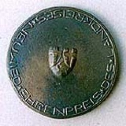 Ehrenpreisplakette  Rückseite