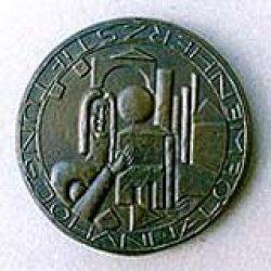 Ehrenpreisplakette gefertigt aus Bronze, Durchm. 9 cm, Vorderseite