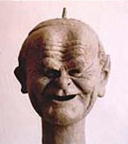 Portrait Papst, Tonmodell