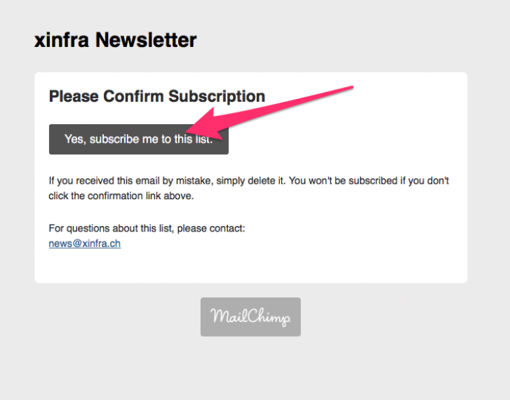 subscribe Mailchimp