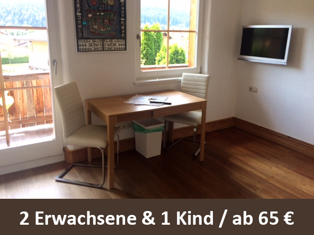 """Ferienappartment """"Hartkaiser"""" in Österreich Tirol Ellmau ab 65 Euro 2,5 Personen und Nacht"""