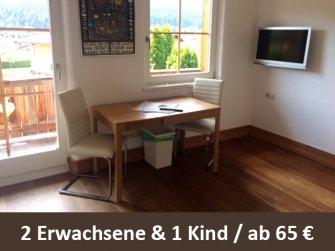 """Ferienappartment """"Hartkaiser"""" in Ellmau / Tirol ab 65 Euro 2,5 Personen und Nacht"""
