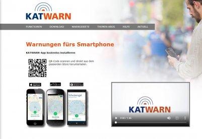 Katwarn-App-Webseite