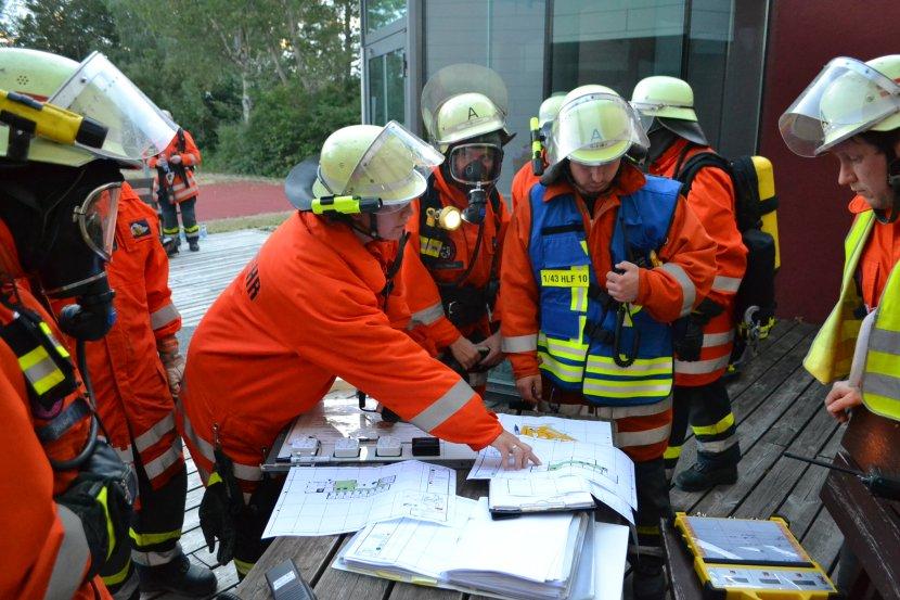 Einsatztaktik und Lagebeurteilung bei der Alarmübung