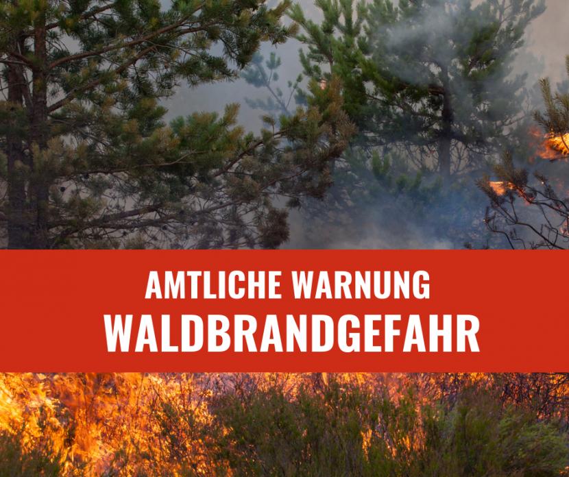 Waldbrandgefahr in Kirchberg Jagst: Warnung