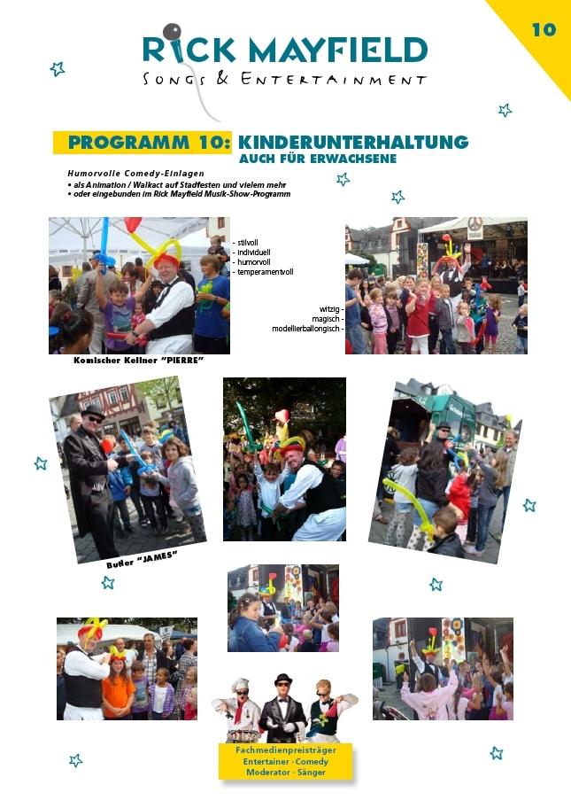 Comedy-Spaß-Kellner Frankfurt - Kinderunterhaltung - Ballonkünstler