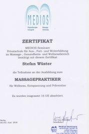 Massagetherapeut Stefan Wüster Düsseldorf