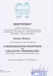 Lymphdrainage Massage Stefan Wüster Düsseldorf