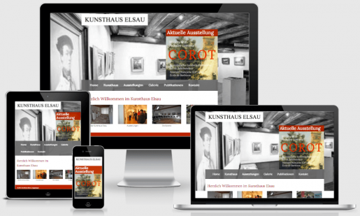 Webdesign fürs Kunsthaus Elsau