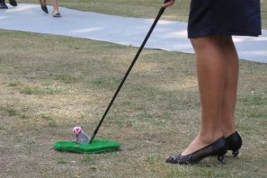 The Golfing Walkact is fun for Ladies too.