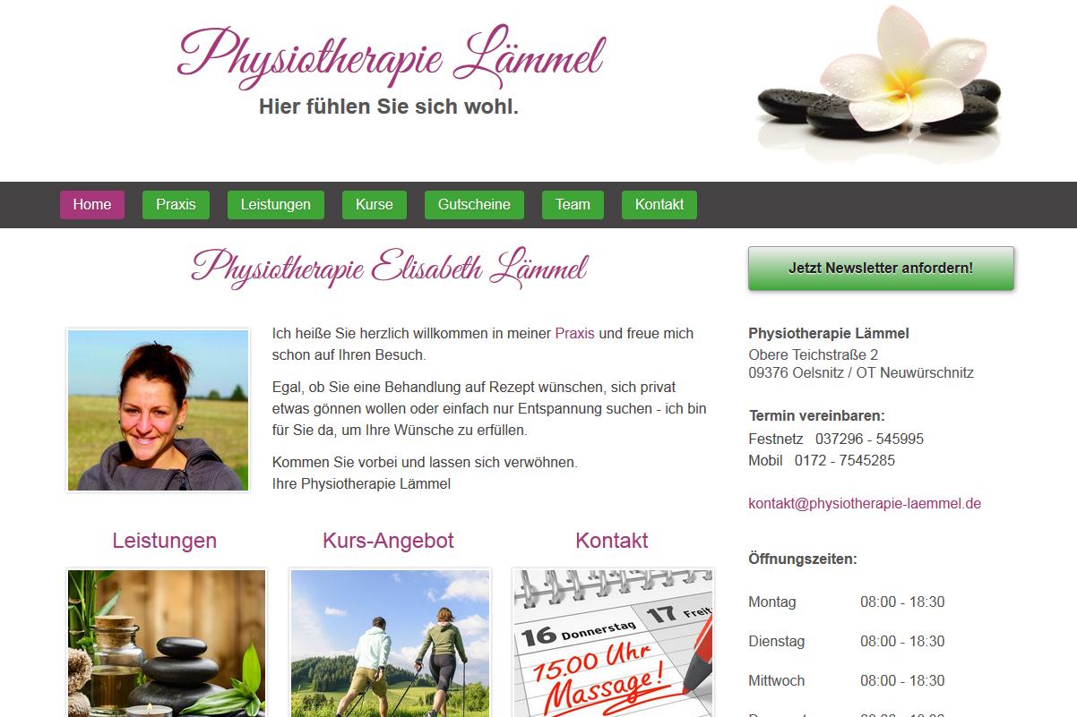 Physiotherapie Homepage erstellen