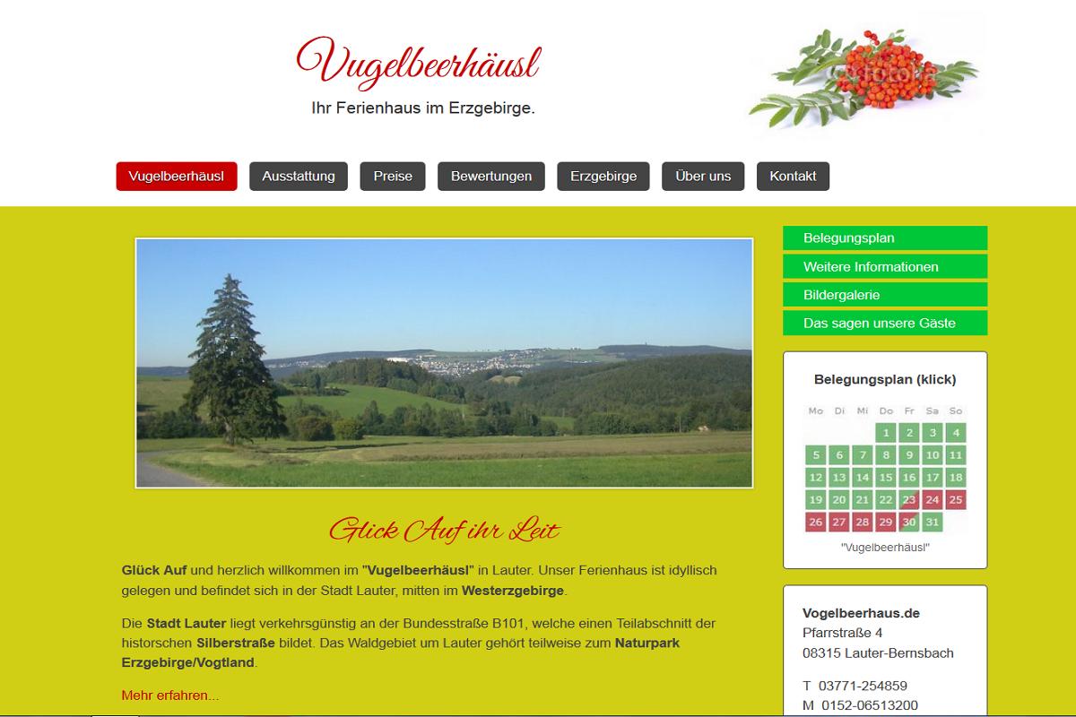 Ferienhaus Homepage erstellen