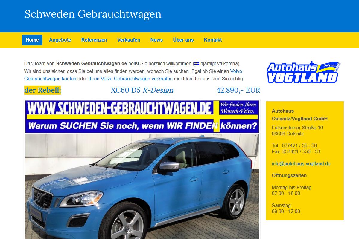 Autoservice Homepage erstellen