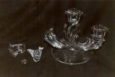 Glass Candleholder before