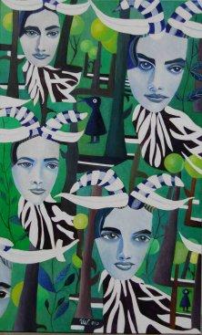 EINE FRAGE DER IDENTITÄT</br >Acryl auf Leinwand, 130 x 80 cm, 2010