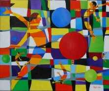 ADRENALIN</br >Öl auf Leinwand, 100 x 120 cm, 2010