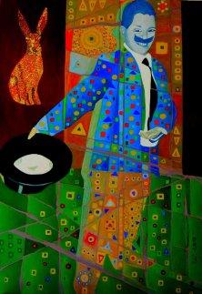 KLEINER ZAUBERER</br>Öl auf Leinwand, 100 x 120 cm, 2010