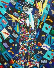 LETZTER WALZER DER LAGUNE</br>Acryl auf Leinwand, 90 x 70 cm, 2006